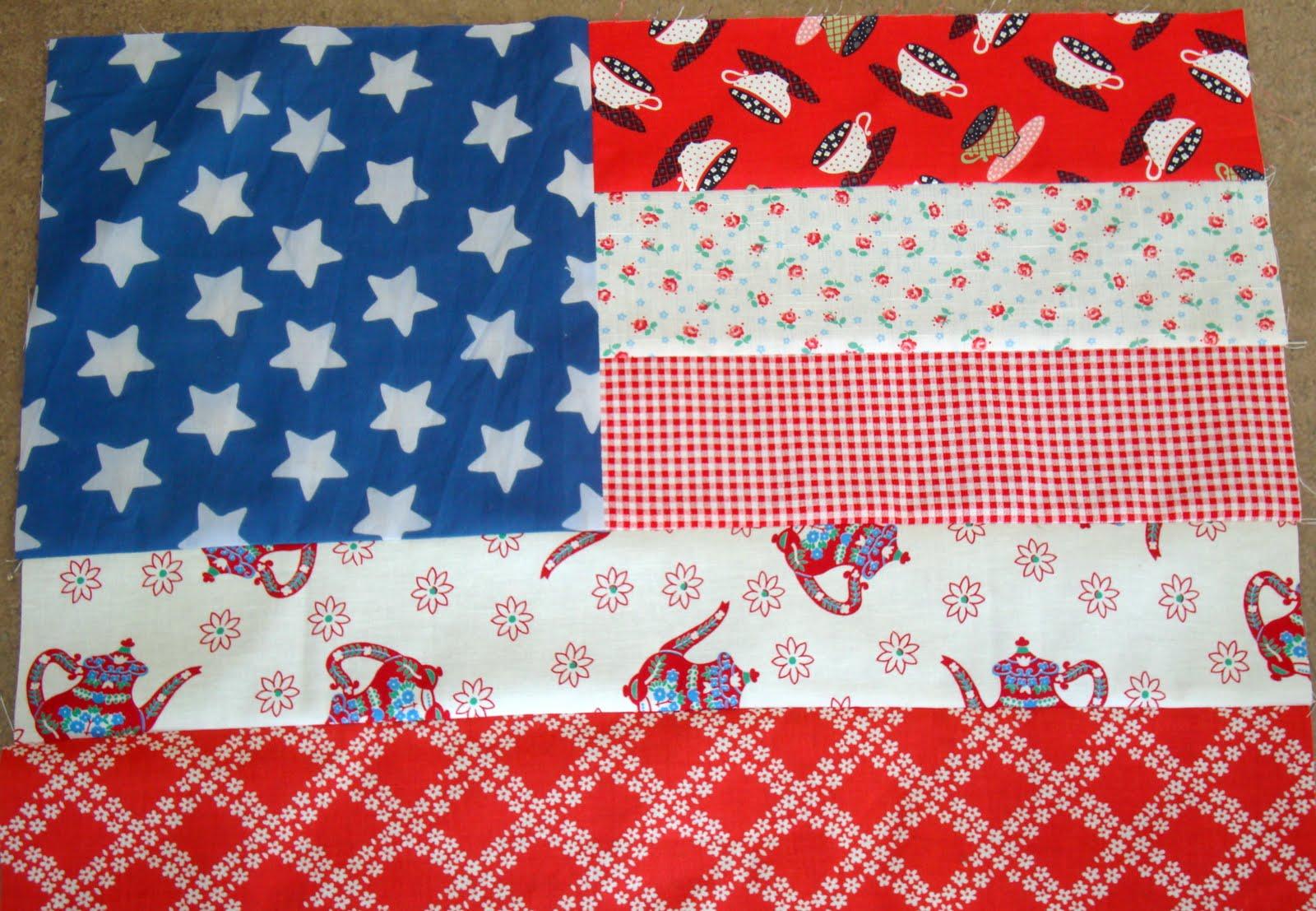 Personal Flag Quilt American Flag Block Fredas Hive