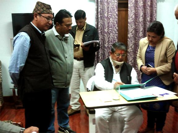 Gorkhali Sudhar Sabha (GSS) with Uttarakhand chief minister Harish Rawat