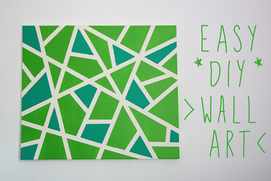 easy canvas wall art project