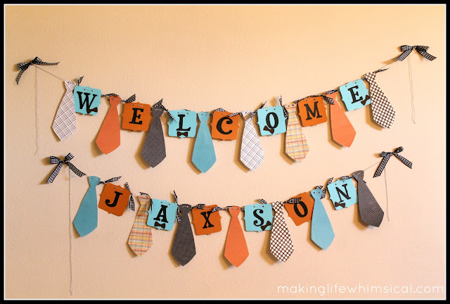 DIY Little Man Necktie Banner
