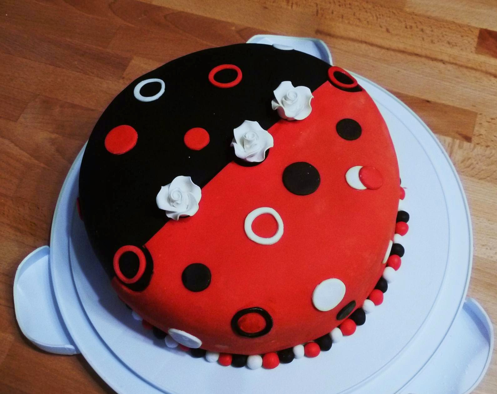 Black and Red Fondant Cake... Beetle inspiration