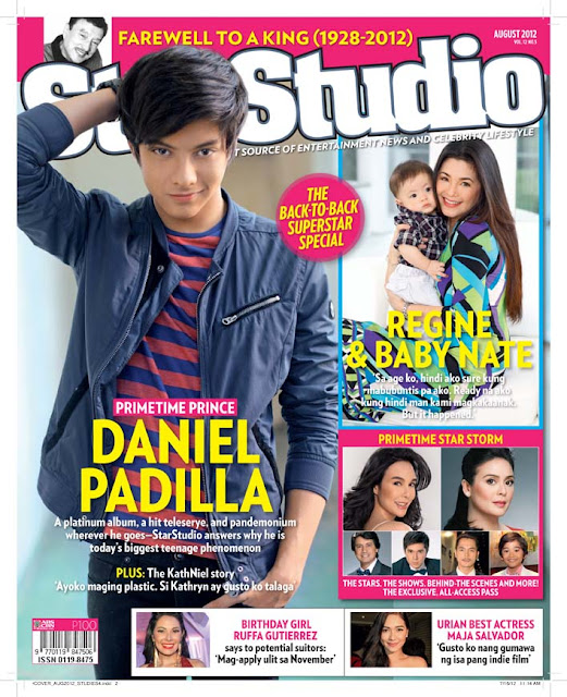 Daniel Padilla Covers Star Studio Magazine August 2012 issue