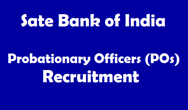 Sbi Pos Probationary Officers Posts Recruitment 2018 Notification