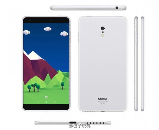 Bocoran kedua desain Nokia C1 Android (GSM Arena)