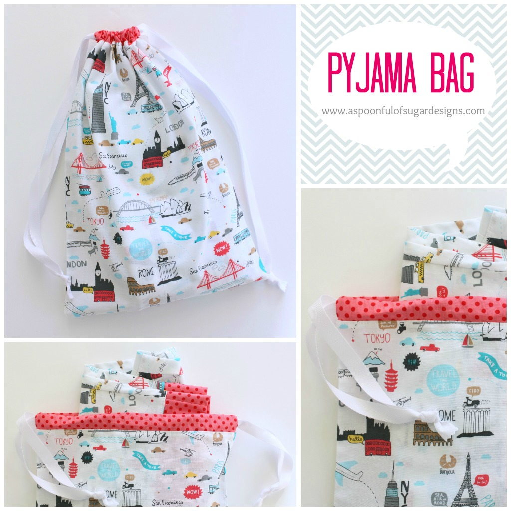 Free Crochet Patterns For Pajama Bags : Pyjama Bag - A Spoonful of Sugar