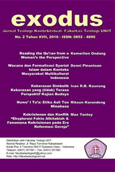Jurnal Terbitan Fakultas Teologi UKIT