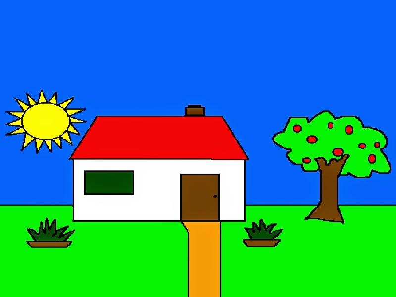 casa desenho colorido jardim colorido with casa desenho colorido