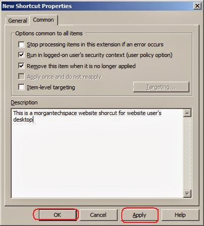 how to add desktop shortcut through group policy