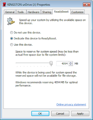 how to tell if readyboost is working windows 7