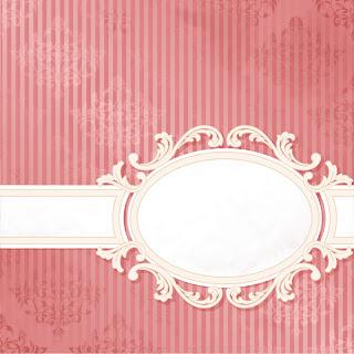 帯のある表紙見本 european pattern background cover イラスト素材
