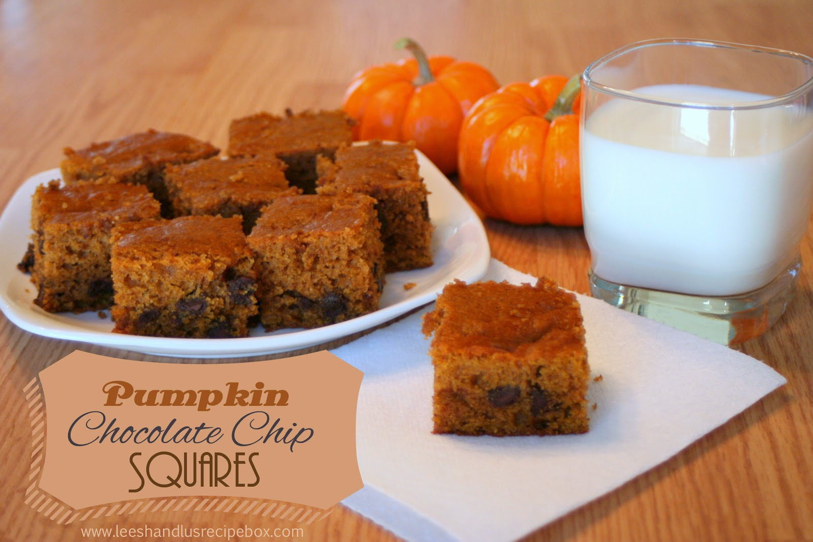 pumpkin bars, pumpkin, chocolate, pumpkin chocolate chip cookies, fall baking