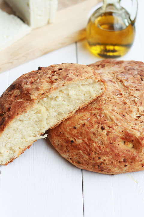 in greece we love both feta and bread and this pair together with some ...