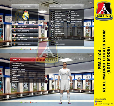 PES 2014 Real Madrid Locker Room by Enzo7
