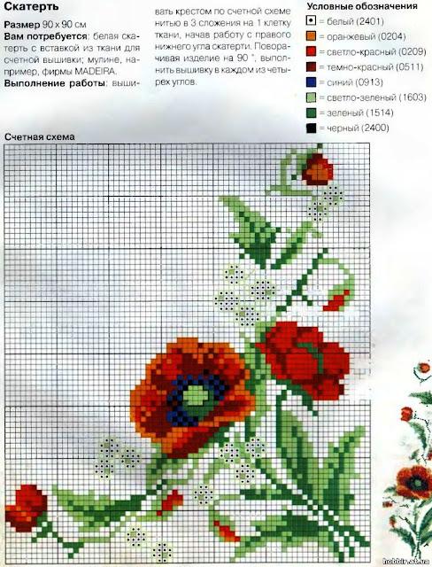 Бесплатные схемы вышивки салфеток 103