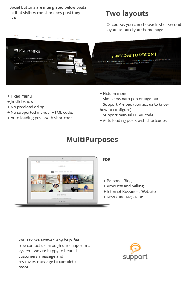 Onepage Blogger Templates [Nulled] Parix - One Page Blogger Template | Nulled ...