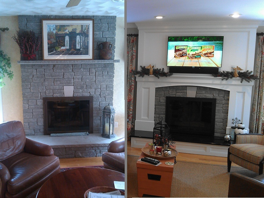 Focalpoint renovations kitchen design layout location for Fireplace renovations before and after