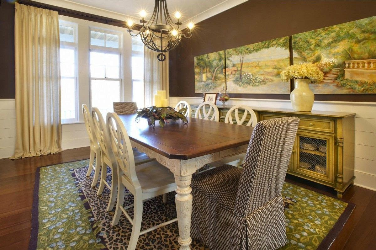 decorating ideas for large dining room wall