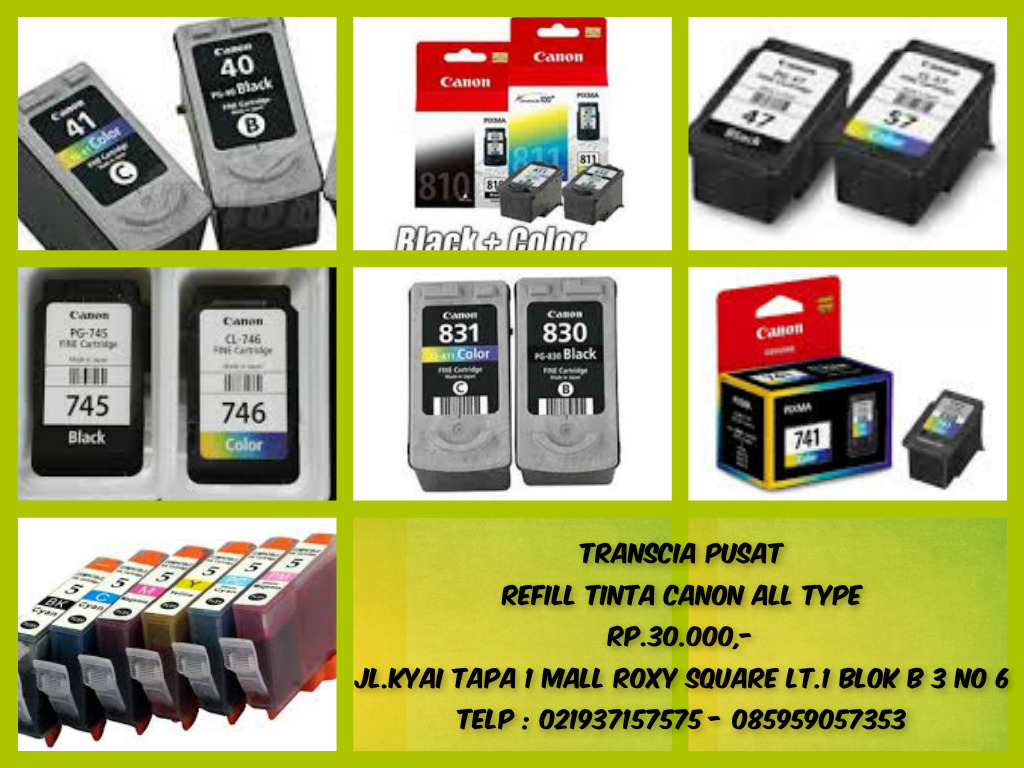 Refill Tinta Toner Printer Inkjet Laserjet Canonhpepsonbrather Canon 831 All Type