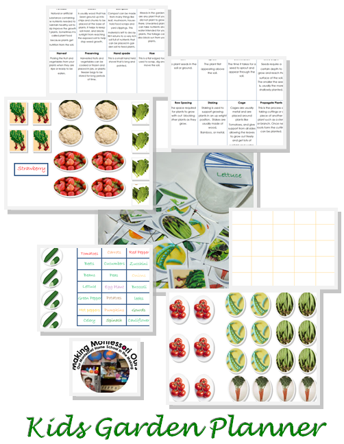 Making Montessori Ours Garden Planning For Kids FREE