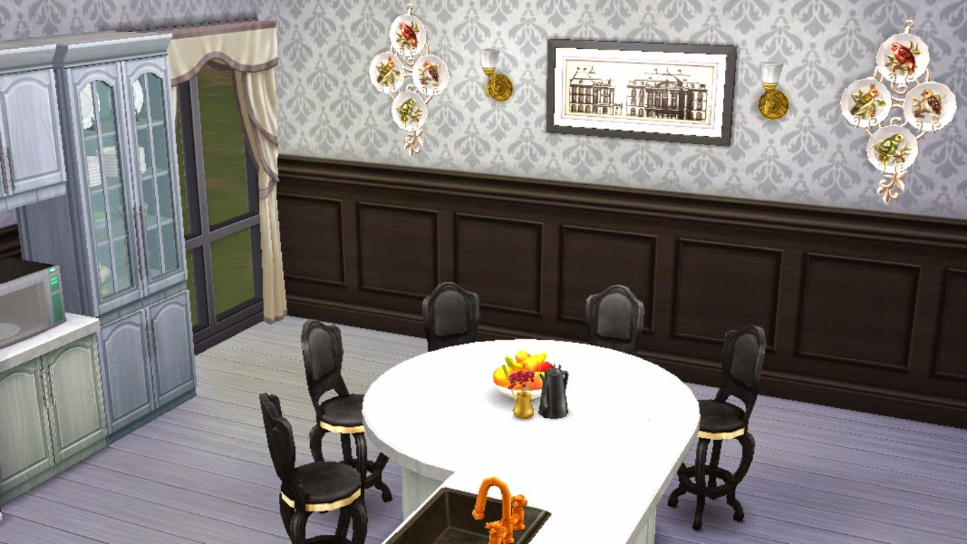 Sims 4 room download black white kitchen sanjana sims for Sims 2 kitchen ideas