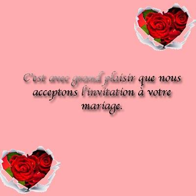 Invitation mariage carte réponse