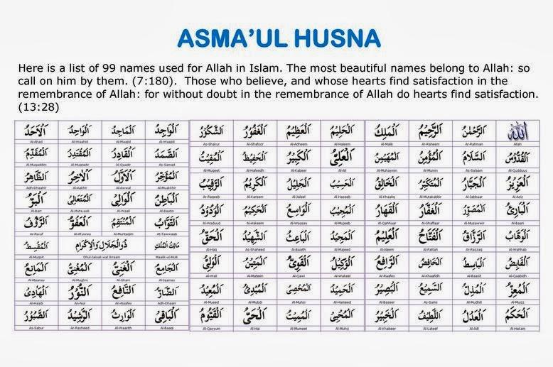 Asmaul husna dan artinya bahasa indonesia