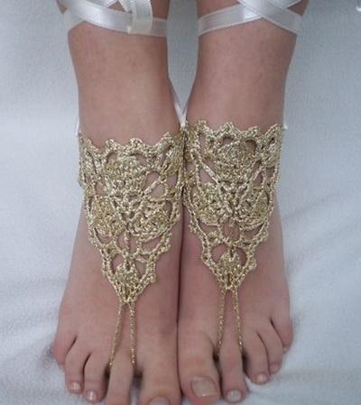 Crochet Bottomless Baby Sandals Pattern ~ Dancox for .