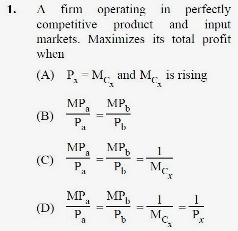 2013 September UGC NET in Economics, Paper III, Question 1