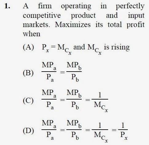 2013 September UGC NET in Economics, Paper III, Question 1