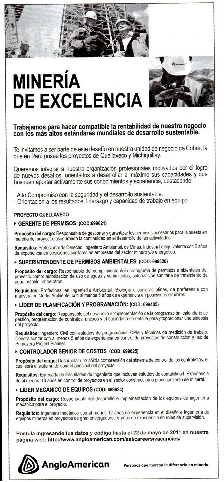 GRUPO INICIATIVA ANTICORRUPCION ILO: Cuando empezará Anglo American ...