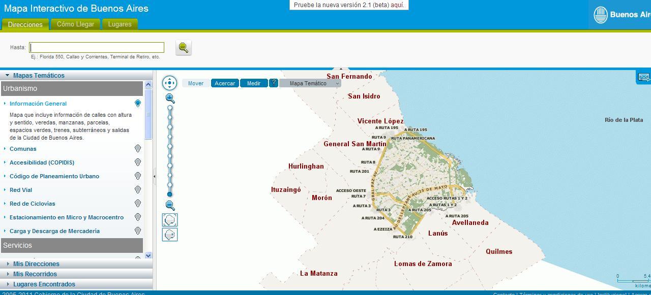 Es un mapa de recorridos de Capital Federal, a diferencia del anterior
