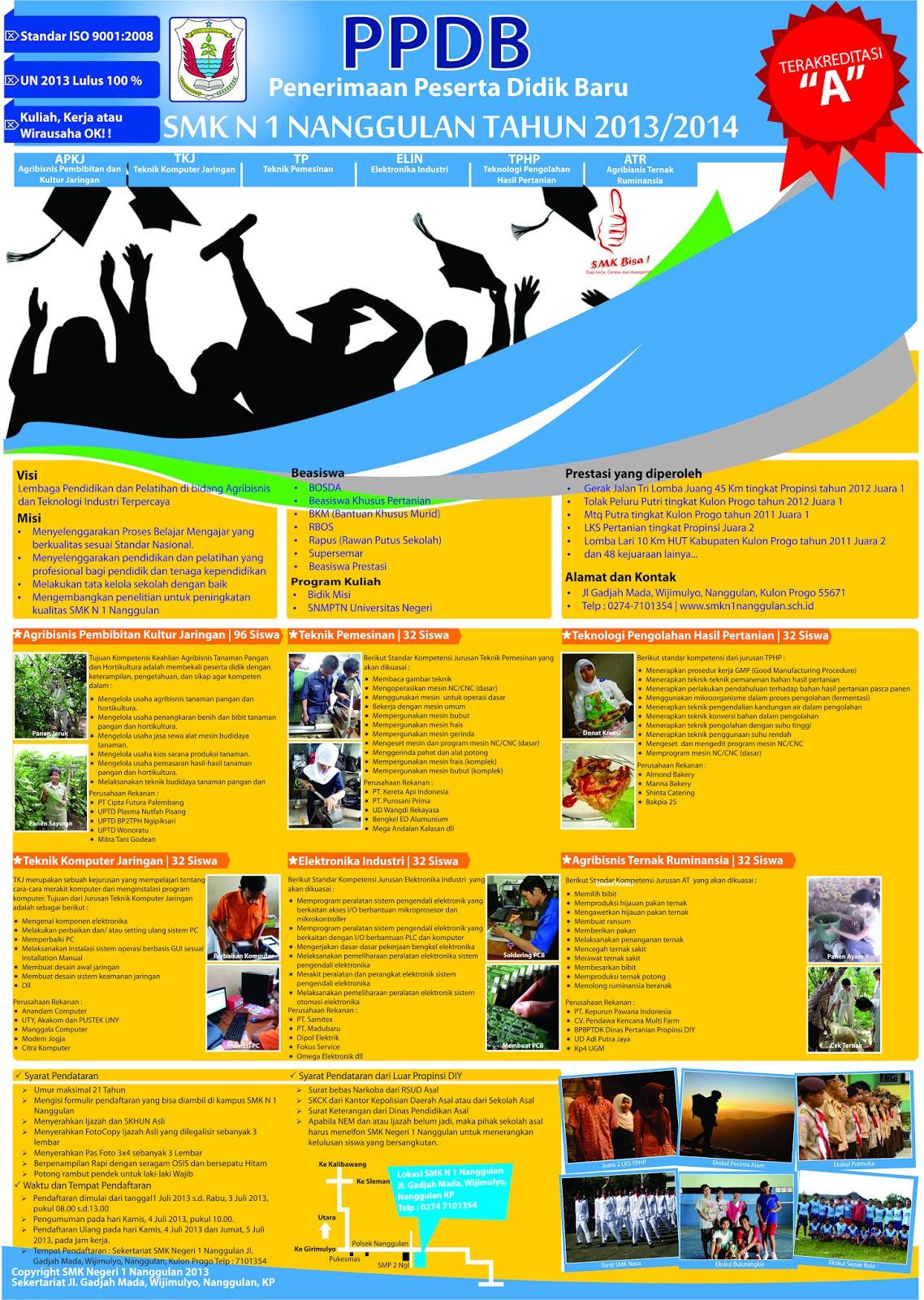 Contoh Poster A3 Penerimaan Siswa Baru 2013/2014 - Setelah pamflet ...