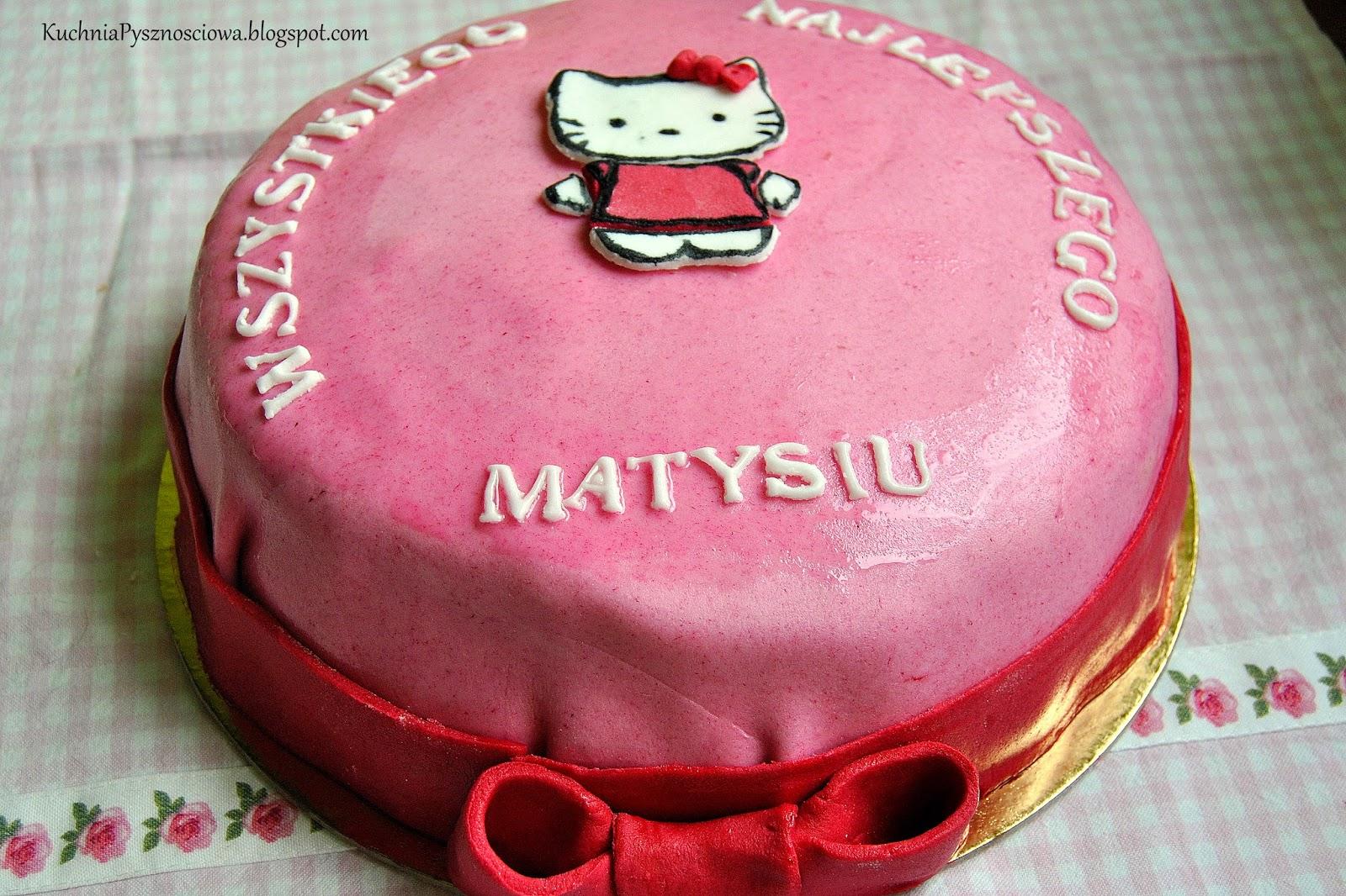 Dziewczęcy tort z Hello Kitty