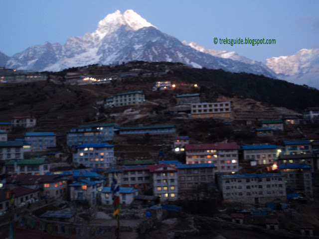 Namche in late evening