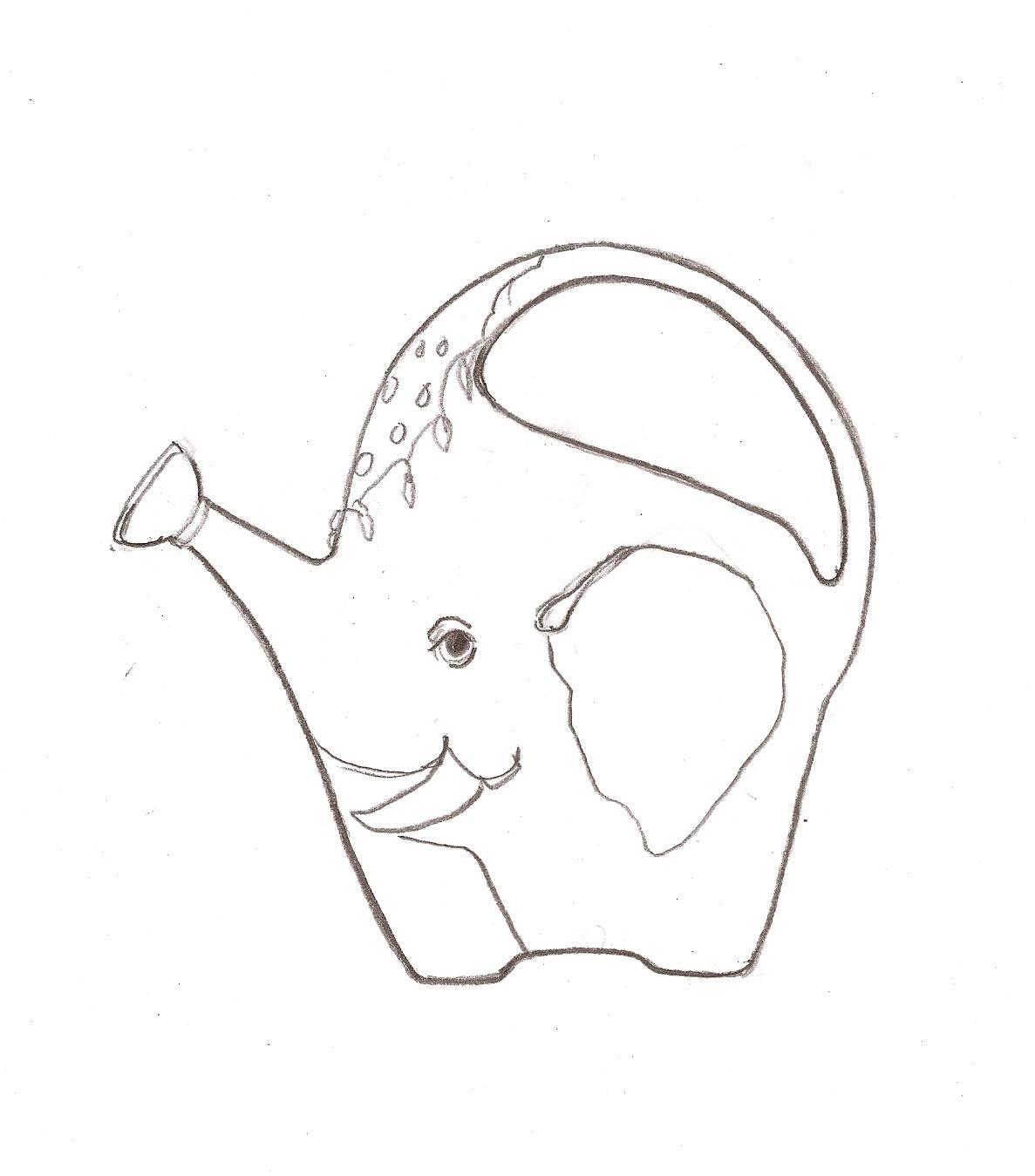 regina hurley art watering can indian elephant theme