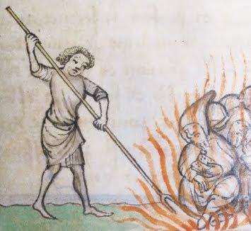 Eretici al rogo in un manoscritto del 1372