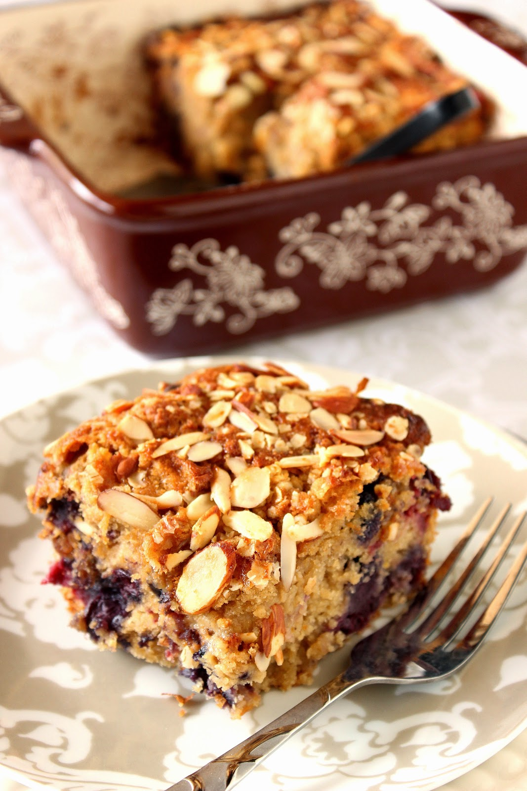 Mixed Berry and Almond Oatmeal Coffeecake
