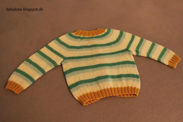 strikket babycardigan