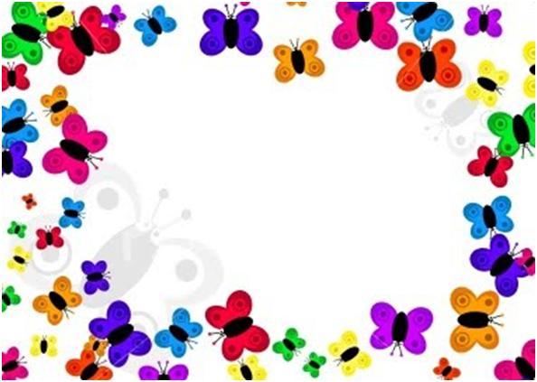 Caraátulas para trabajos de kinder preparatoria de niñas, carátulas para niñas, carátulas de colores, carátulas lindas infantiles para niñas decorar trabajos de niñas, bordes infantiles de mariposas, bordes decorativos de mariposas