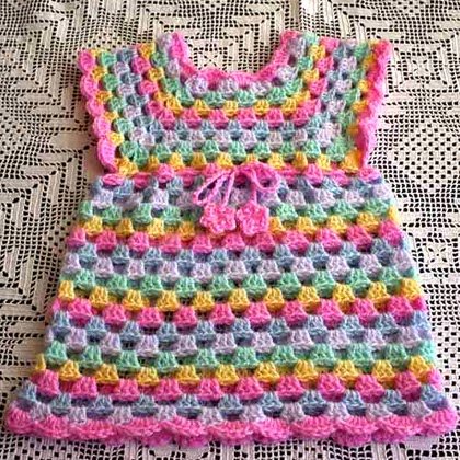 Sweet Little Granny Tunic Dress Free Crochet Pattern