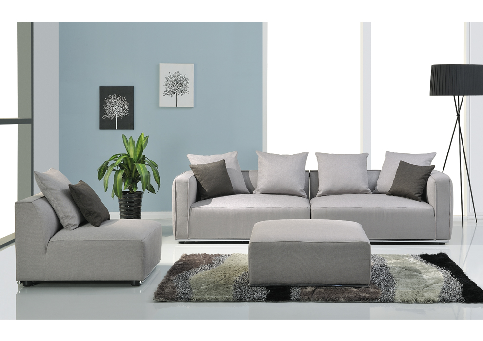 Sofa gris muebles wengue for Sofas grises decoracion