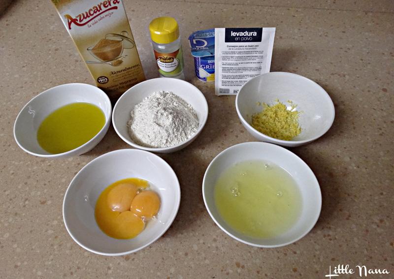 Bizcocho de yogur griego