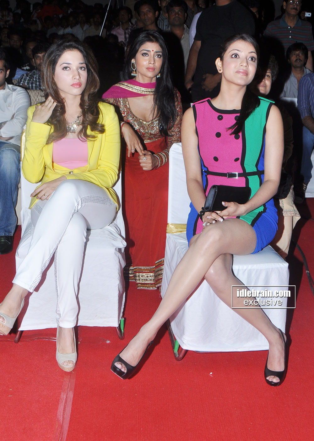 Kajal Agarwal, Shreya Saran, Tamanna - South Beauties Kajal Agarwal,Shreya &amp; Tamanna At a Public Function