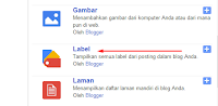 Cara Membuat  Menu Label Blog Dengan Fungsi Scroll Di Blog