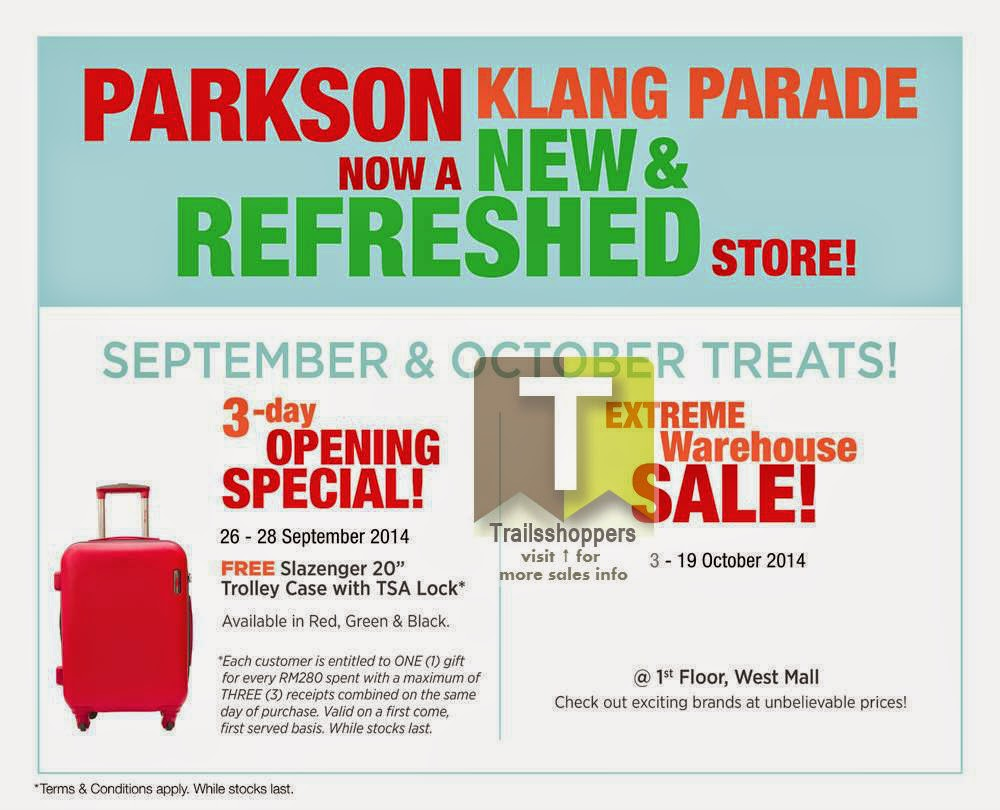 Parkson Extreme Warehouse Sale offer klang rawang