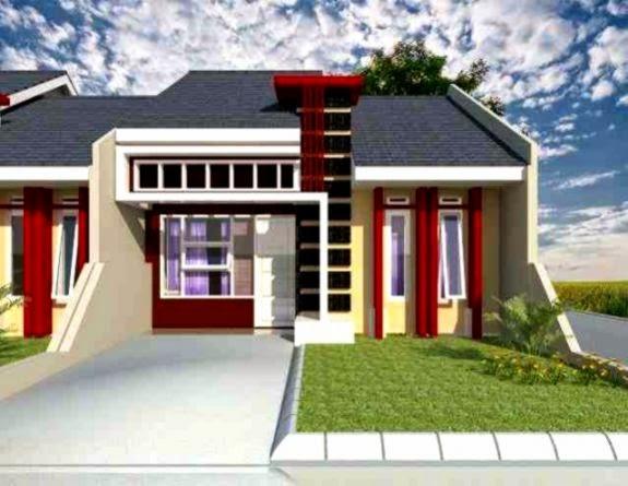 perpaduan warna cat rumah minimalis tampak depan rumah