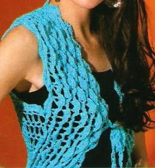 Patrones de Tejido Gratis: Bolero (crochet)