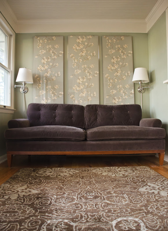 the long and short of it: How to Hang Wallpaper Panels