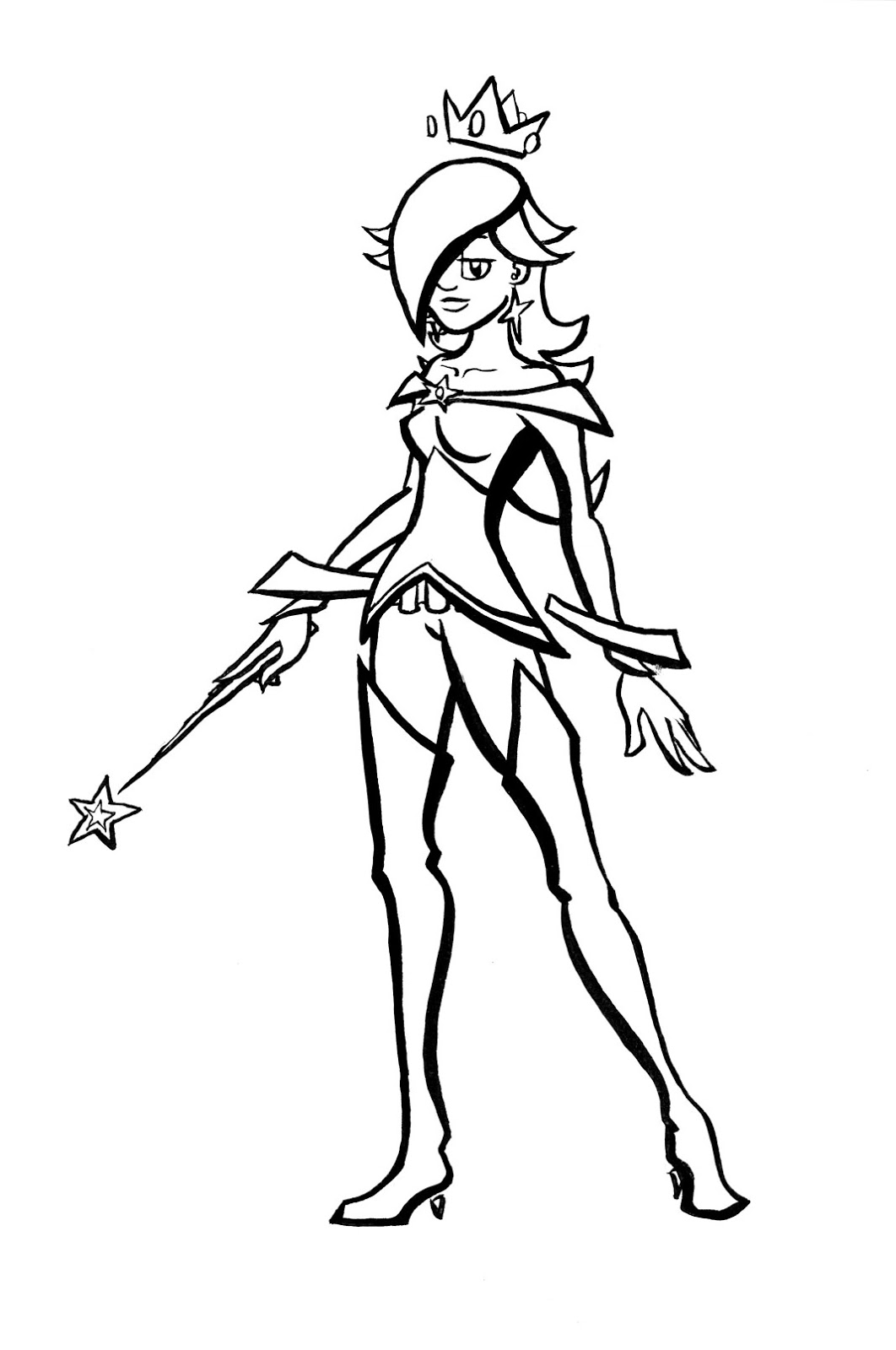 Princess rosalina coloring pages - Drawing For Animation