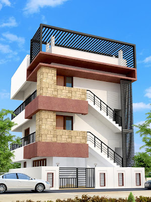 Indian Residential Building Elevation Homedesignpictures